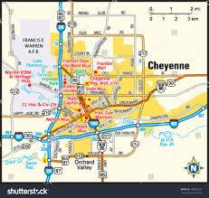 Laramie Wy Zip Code Map by Cheyenne Wyoming Area Map Stock Vector 143966215 Shutterstock