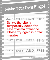 free custom bingo card generator myfreebingocards com