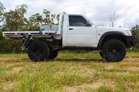 white nissan truck nissan patrol gu ute white 66964 superior customer vehicles