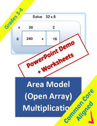 area model multiplication by classroom caboodle tpt