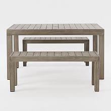 Patio Dining Set With Bench Patio Dining Sets Outdoor Dining Sets West Elm