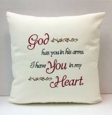 bereavement gifts embroidered memory pillow sympathy gift in memory of