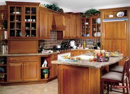 brown kitchen cabinets indicates luxury kitchen decoration ideas