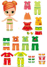 paper doll with summer clothes free printable papercraft
