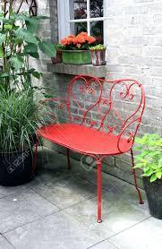 patio ideas wrought iron patio benches vintage wrought iron