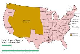 map of the us states in 1865 border state civil war secession border states slavery map
