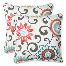 patio cushions and pillows amazon com pillow perfect outdoor pom pom play peachtini throw