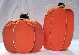 wooden pumpkin crafts