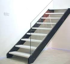 quarter turn staircase wooden steps metal frame without risers