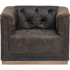 Leather Club Chair Swivel Maxx Leather Swivel Chair Destroyed Black
