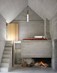 Concrete Interior Design by 200 Year Old House With Renovated Concrete Interior
