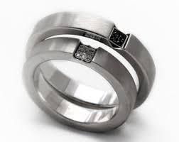 titanium wedding rings for men black wedding ring set heart ring wedding bands mens