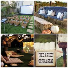 how to host a backyard movie party diy for life