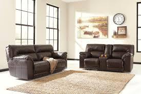 Chocolate Living Room Set Furniture Barrettsville Durablend Reclining Livingroom Set