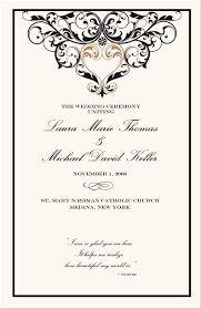 black wedding programs 28 images of borders program template learsy