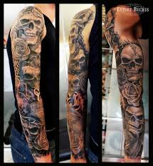 Skull Arm - skull skull skull by ettore bechis tattoonow