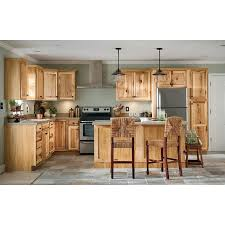 lowes medium oak kitchen cabinets now denver 18 in w x 84 in h x 23 75 in d hickory door pantry stock cabinet