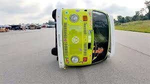 new volkswagen bus yellow world u0027s first sideways vw camper van youtube