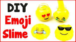 diy crafts how to make emoji slime diy slime with 3 ingredients