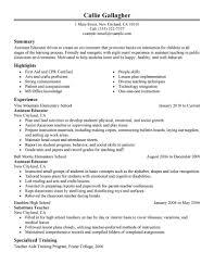 Teacher Resumes Samples by 20 Effective Assistant Educator Resume Samples Vinodomia