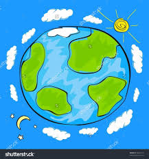 drawing of earth child drawing sketch of planet earth royalty free