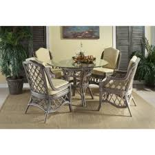 rattan kitchen furniture wicker rattan kitchen dining tables you ll wayfair