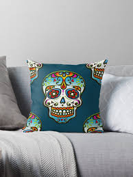 Day Of The Dead Bedding Mexican Sugar Skull Day Of The Dead Dias De Los Muertos