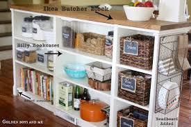 ikea hacks kitchen island billy bookshelves kitchen island ikea hackers ikea hackers
