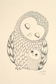 mika art blog owl mom u0026 baby 4