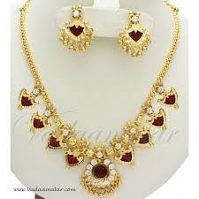 kerala earrings kerala necklace and earrings micro gold plated ethnic kerela