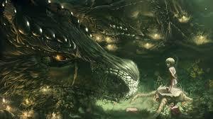 download wallpaper 1920x1080 dragon forest art full hd