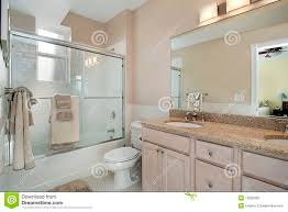 master bath with sliding glass shower door stock photography royalty free stock photo download master bath with sliding glass shower