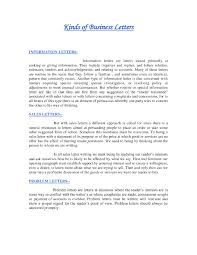 Sales Letter Examples Business Writing by Types Of Business Letter And Samples The Letter Sample