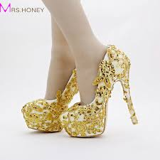 gold wedding shoes for gold bridal shoes lace glitter formal dress shoes stiletto heel