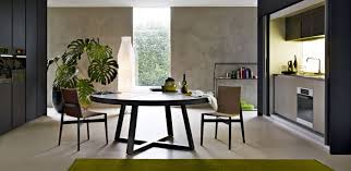 Large Round Dining Table Ideas Modern  Seats Nestondesigncom - Designer round dining table
