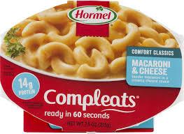 hormel compleats comfort classics macaroni u0026amp cheese 7 5 oz