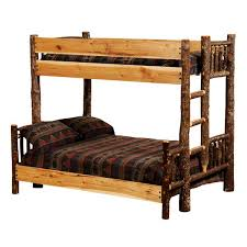 Bedroom Furniture Free Shipping by Rustic Hickory Bunk Beds Western Bedroom Furniture Free Shipping
