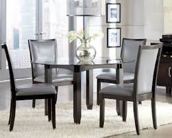 Dining Table For 4 Amplify Dinette Appearance With Glass Round Dining Table Home