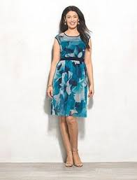 dress barn signature darby floral belted dress dresses