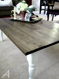 refinish cheap dining table as desk w dark top u0026 white legs