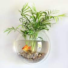 Aquarium For Home Decoration Wall Mounted Bubble Fish Tank Decoration Hanging Aquarium Wall