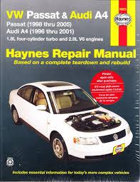 1996 2005 volkswagen passat audi a4 repair manual 2000 2001 2002