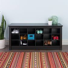 Small Entryway Storage Bench Shop Prepac Furniture Transitional Black Storage Bench At Lowes Com