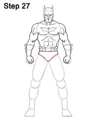 draw batman body