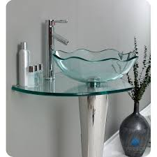Vessel Sink Vanity Top Fresca Fvn1036 Netto Modern Glass Bathroom Vanity With Wavy Edge
