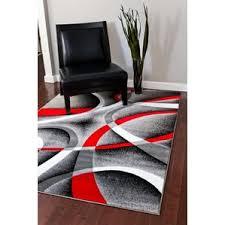 Red Black White Area Rugs Modern White Area Rugs Allmodern