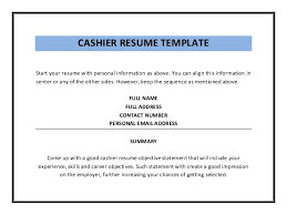 Resume Template Cashier Contoh Essay Introduce Myself Creating Employer Free Resume