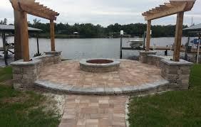 Ideas For Concrete Patio Concrete Patio Ideas With Fire Pit Pictures Landscaping