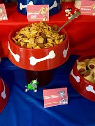 paw patrol puppy chow dip party ideas puppy chow