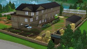 big farmhouse a big farmhouse with mill set the sims forums